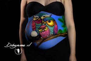 Cuerpos pintados chile